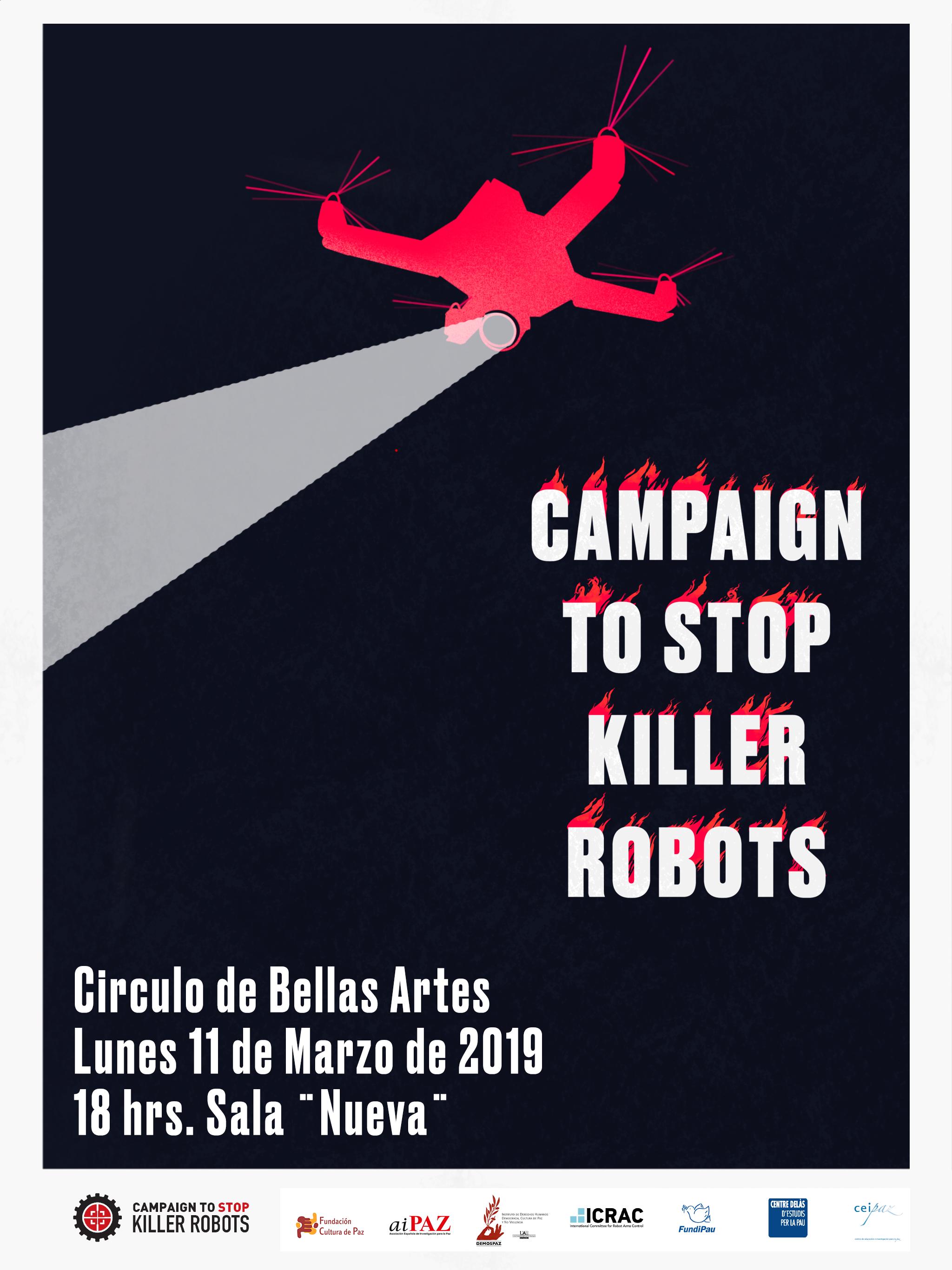 """Presentación de la Campaña """"Stop Killer Robots"""" en Madrid"""